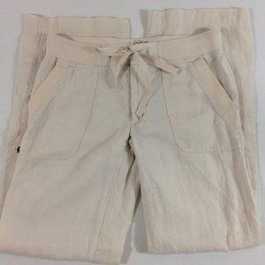 Ann Taylor LOFT lounge linen pants 2